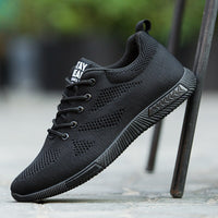 Fashion Spring Men Shoes All Black Lace Up 2020