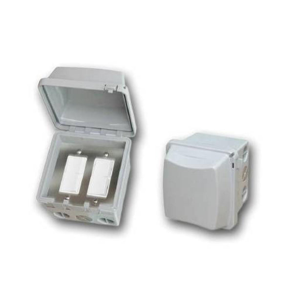 Infratech - Accessory - Dual Duplex Switch Surface Mount and Gang Box 20 Amp Per Pole