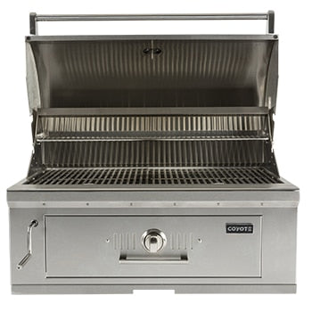 "36"" Coyote Stainless Steel Charcoal Grill"