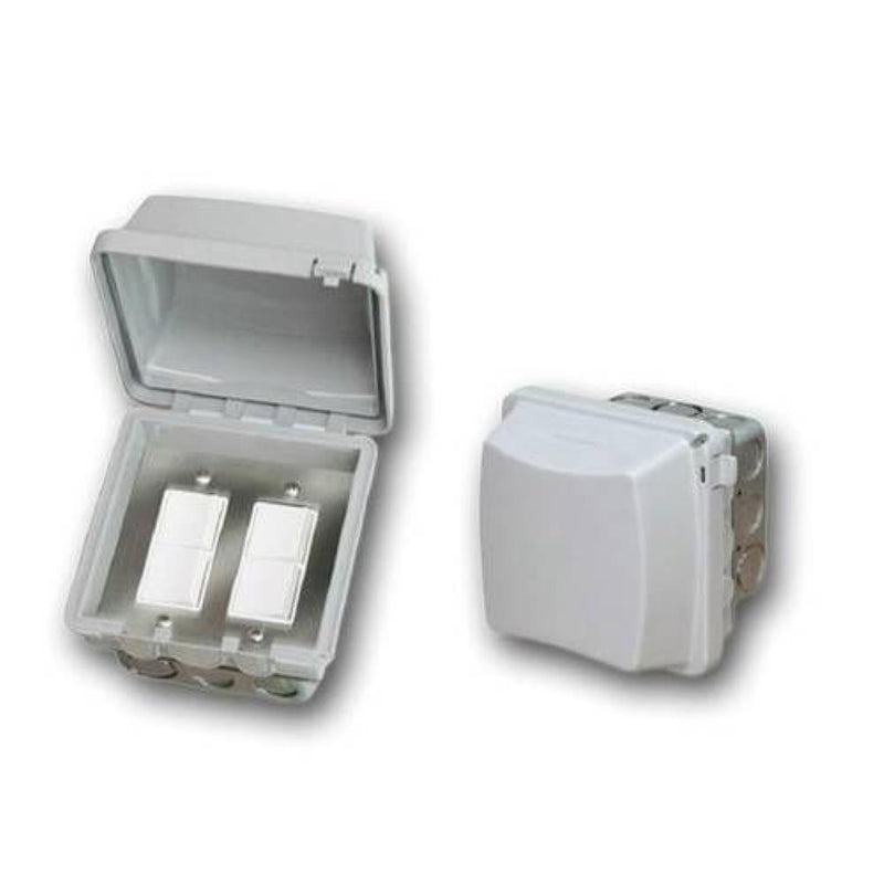 Infratech - Accessory - Dual Duplex Switch Flush Mount and Gang Box 20 Amp Per Pole