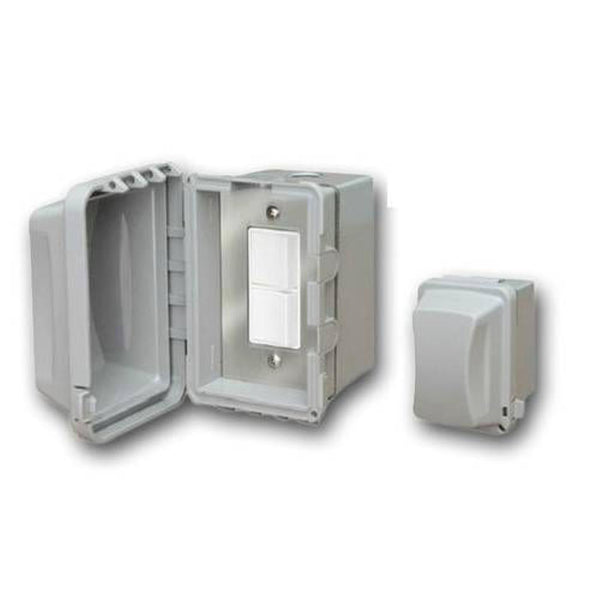 Infratech - Accessory - Single Duplex Switch Surface Mount and Gang Box 20 Amp Per Pole