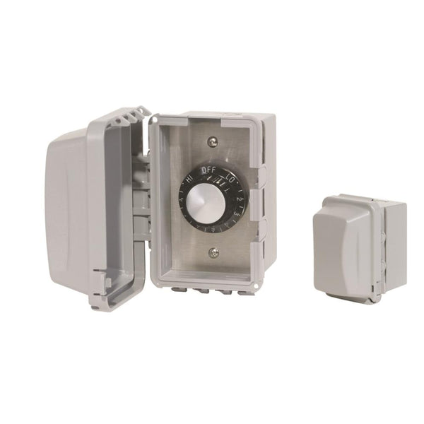 Infratech - Accessory - 120 Volt Single Reg Surface Mount and Gang Box