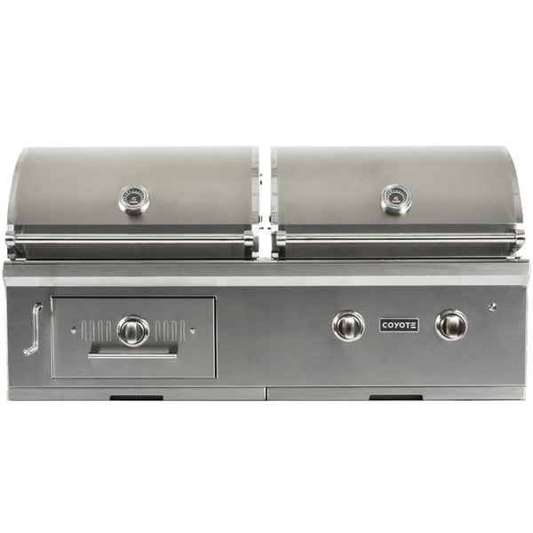 "50"" Coyote Centaur Built-In Gas/Charcoal Dual Fuel Grill"