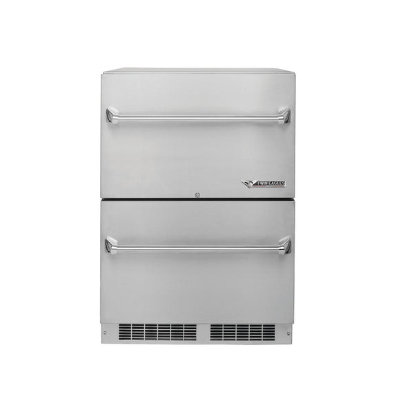 "Twin Eagles 24"" Double Drawer Refrigerator"