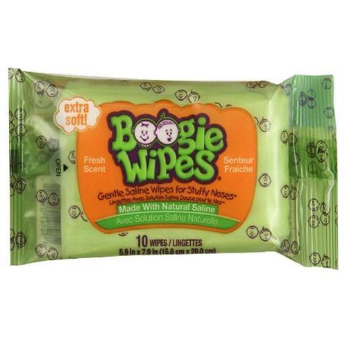 Boogie Wipes Saline Nose Wipes Fresh Scent Travel Pack