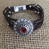 Beaded Sunflower Bracelet with Magnetic Clasp