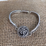 Silver Vine Bracelet with Magnetic Clasp