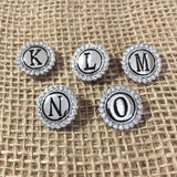 Rhinestone Letter Snap Charms (Click on image to see full collection)