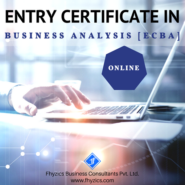 Entry Certificate in Business Analysis [ECBA] - Online