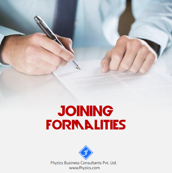 SOP-HR-002 : Joining Formalities