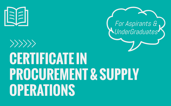 Certificate in Procurement and Supply Operations - L2