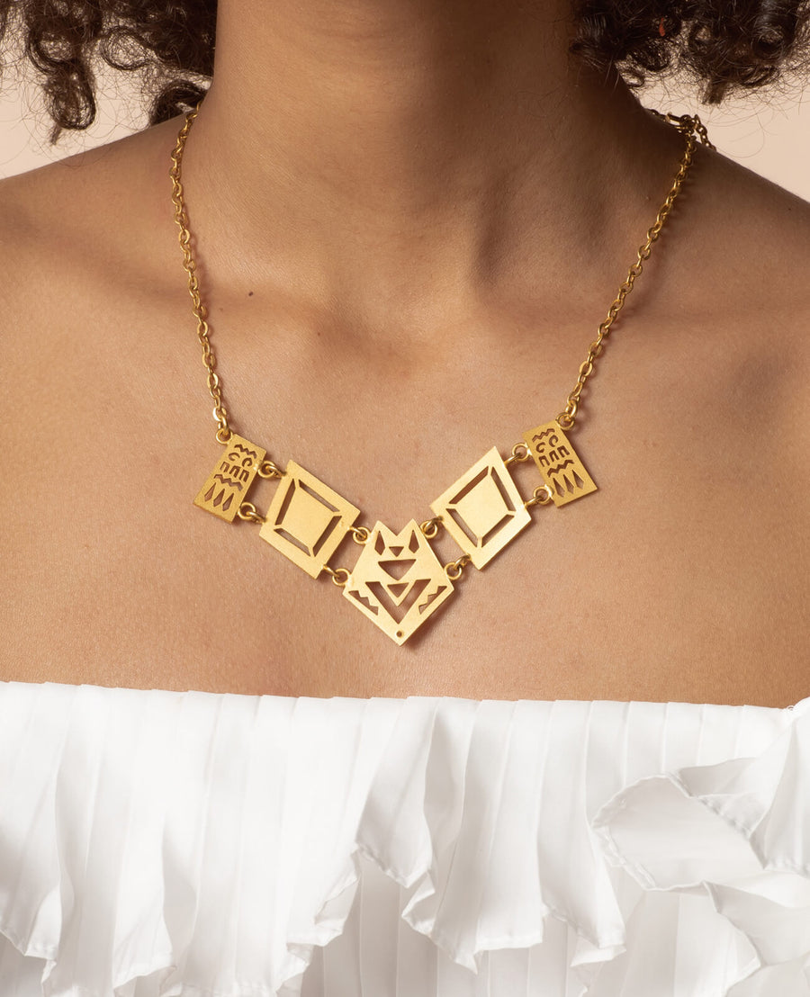Makena Necklace - 18K Gold Plated Silver