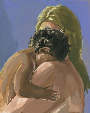 Comforted . original painting