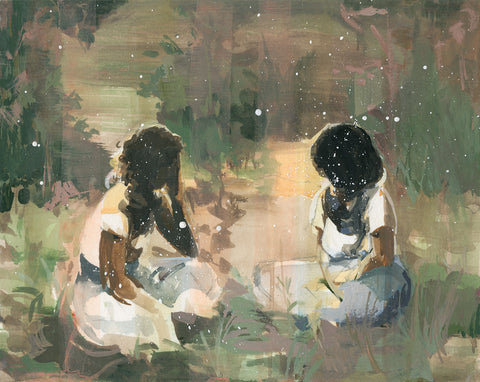 The Listeners . original painting