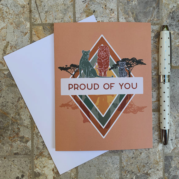 Boho Lion Pride Greeting Card