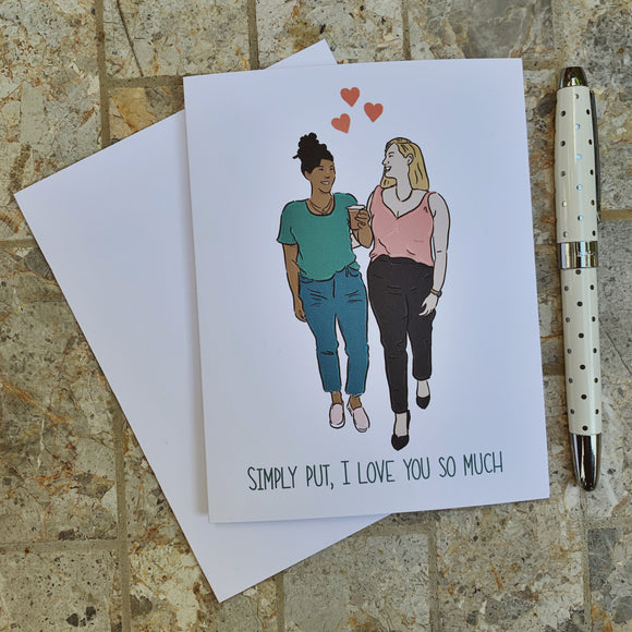 Simply Put - I Love You So Much Greeting Card
