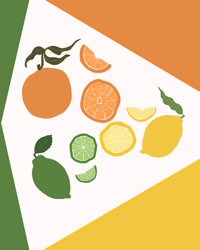 Art Deco(ish) Citrus Flag Arrangement 01