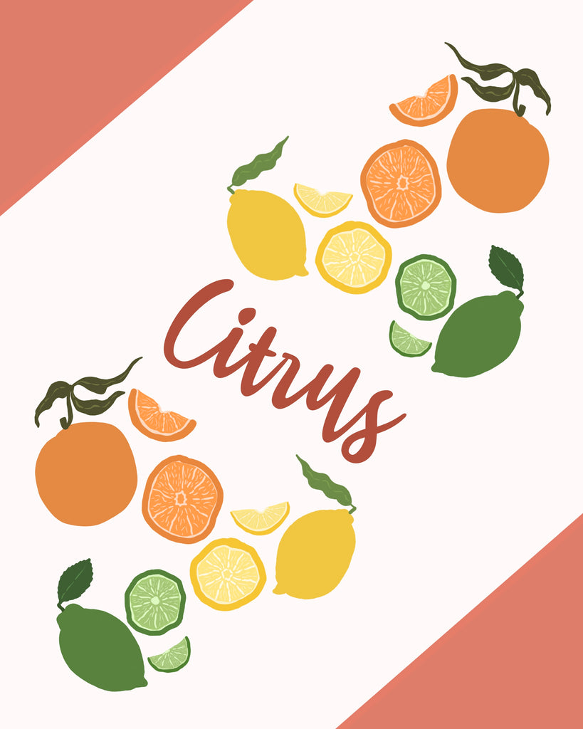 Citrus - The Double Flag Arrangement Print