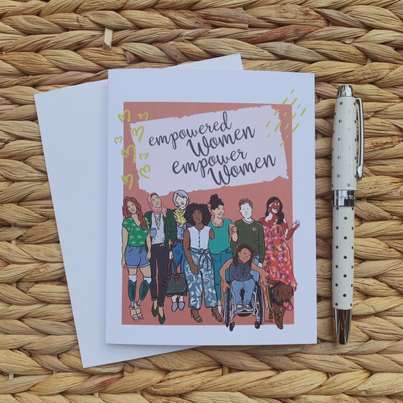 Empowered Women Empower Women Greeting Card