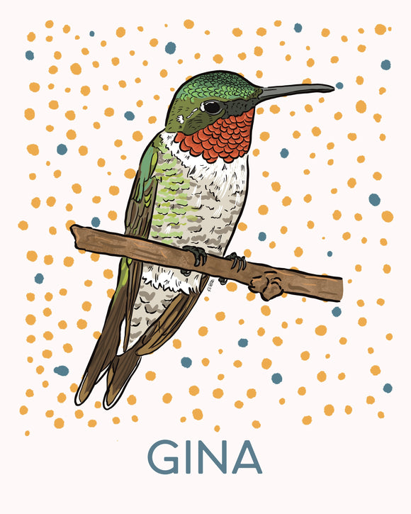 Fiona the Hummingbird - Personalized