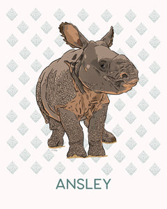 Joona the Baby Rhino - Personalized