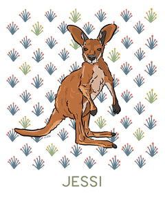 Kelsey the Kangaroo - Personalized