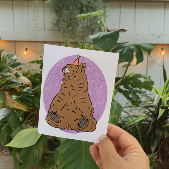 Party Bear Greeting Card