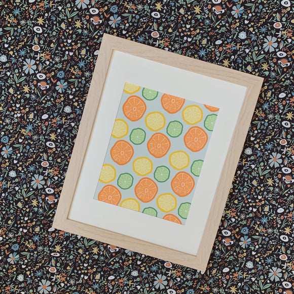 Citrus Halves Pattern