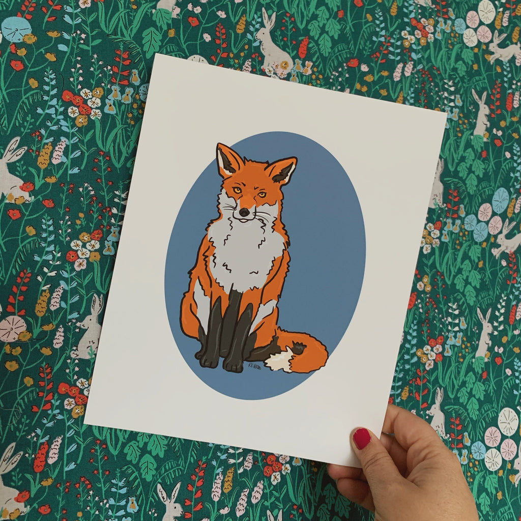 Cora the Red Fox - Illustrated Print