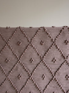 VILLA501 / Cotton rug / Mocha M / 4 dots
