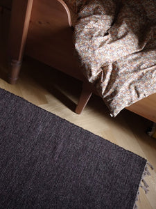 VILLA501 / Natural cotton rug / chocolate