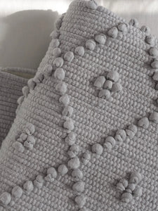 VILLA501 / Cotton rug / melange grey M / 5 dots