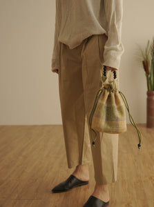 BOLSAC / Poppy bucket bag check ver / yellow