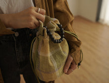 Load image into Gallery viewer, BOLSAC / Poppy bucket bag check ver / yellow