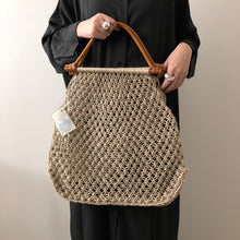 Load image into Gallery viewer, Maison Bengal / Cane handle bag / Black & Natural