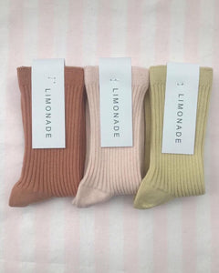 LIMONADE / Ankle Ribbed / 5 colors