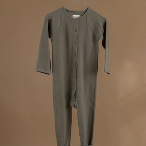 Lah Lan / Wool suit / bark