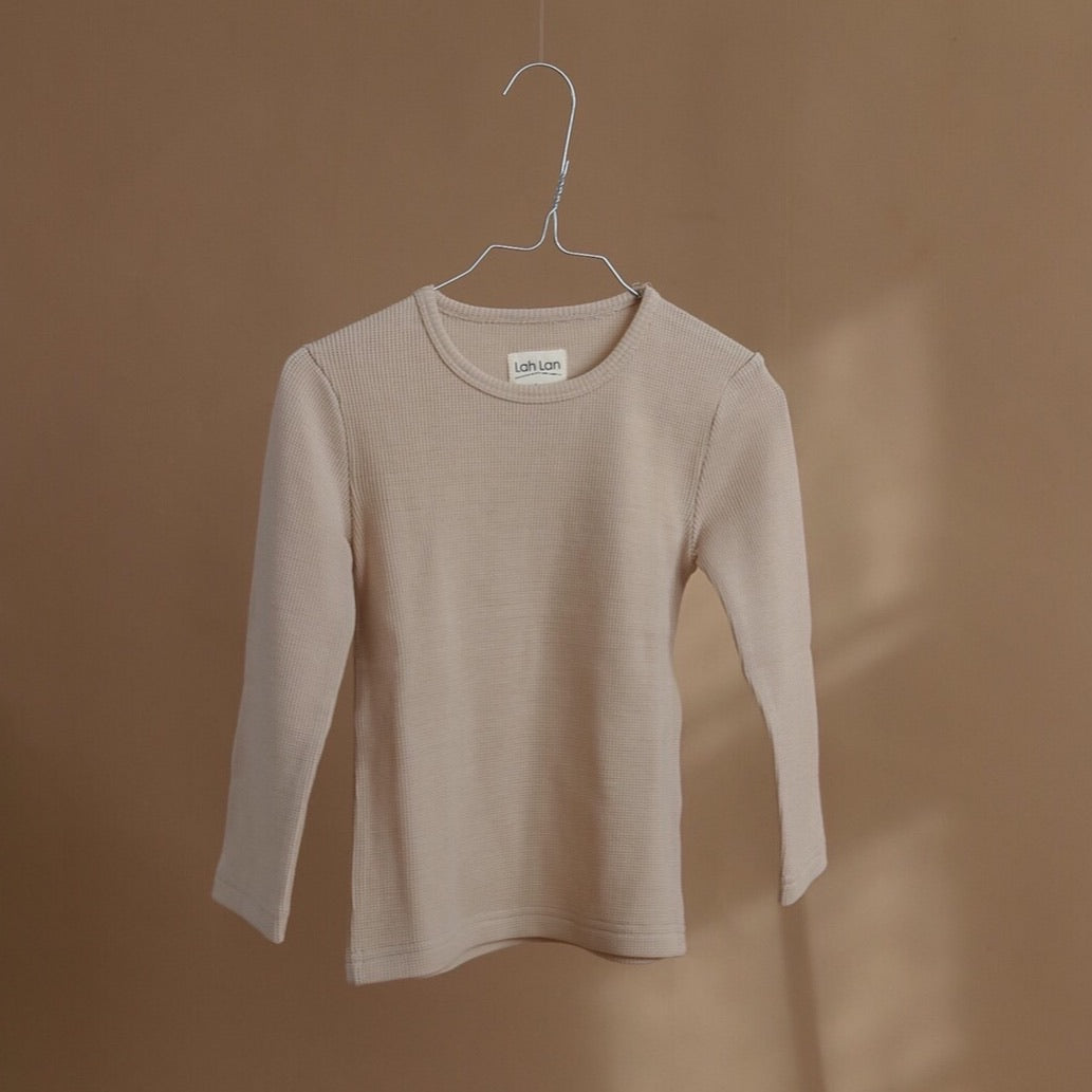 Lah Lan / Wool blouse / ginger