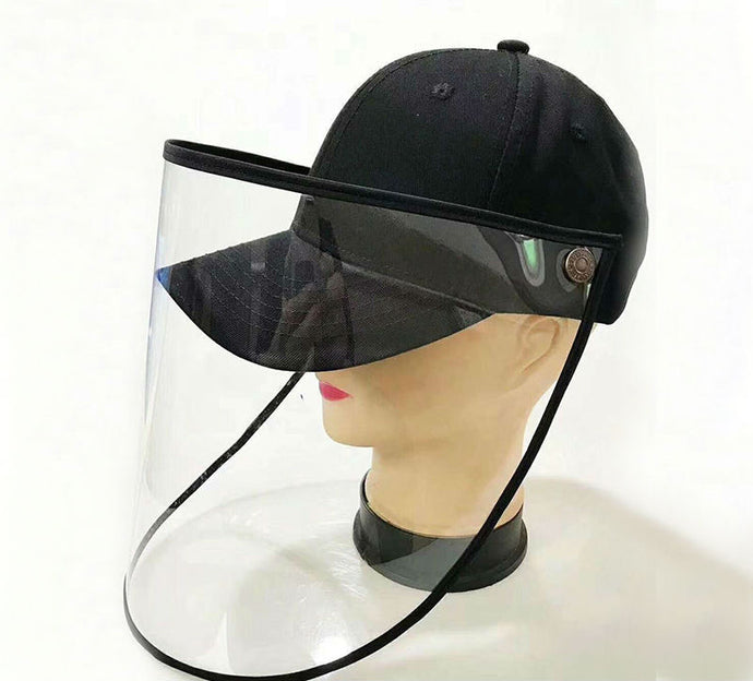 All-Purpose Spitting-Proof Cap, with Detachable Clear Face Shield, Windproof & Dustproof, Lightweight & Comfortable, for Men & Women