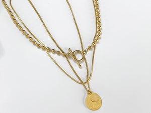Multi-Layered Coin Necklace