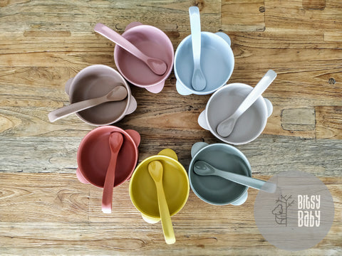 Silicone Suction Bowl & Spoon Sets