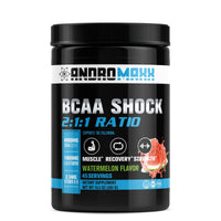 Andromaxx BCAA's Recovery For Men & Women, 45 Servings, BCAA Powder With Glutamine - Andromaxx.com