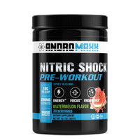 Andromaxx Nitric Shock Pre-Workout, Sugarfree Pre-Workout Energy For Men & Women | 30 Servings - Andromaxx.com