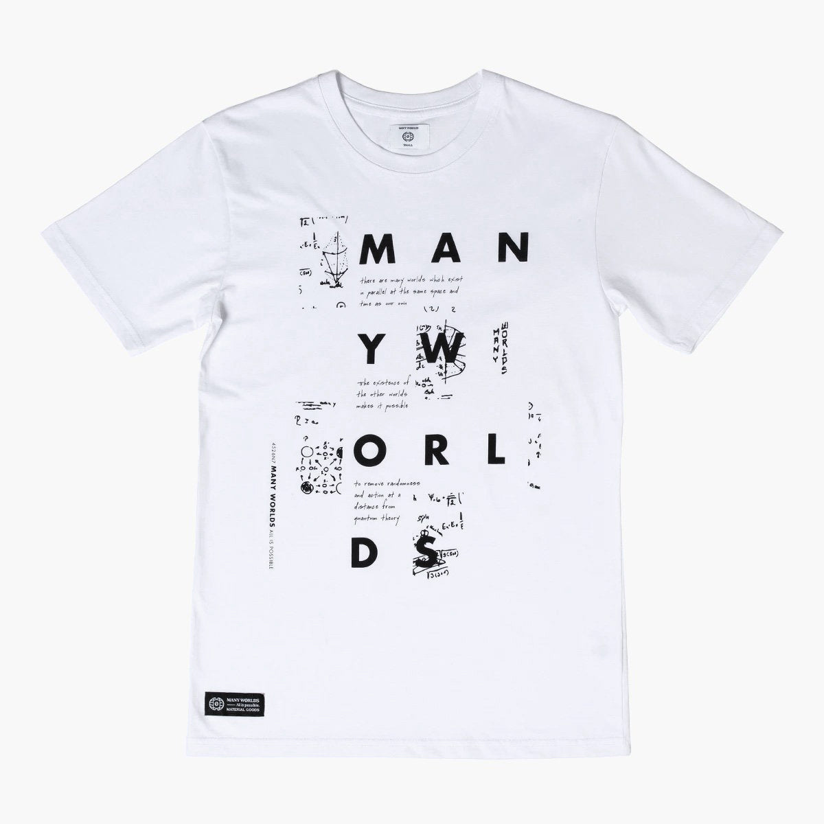 Many Worlds Physics Notes Tee (White)