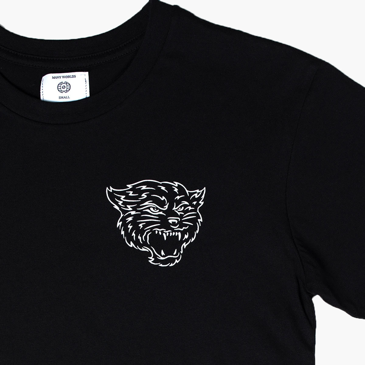 Many Worlds Sharp Teeth Tee (Black)