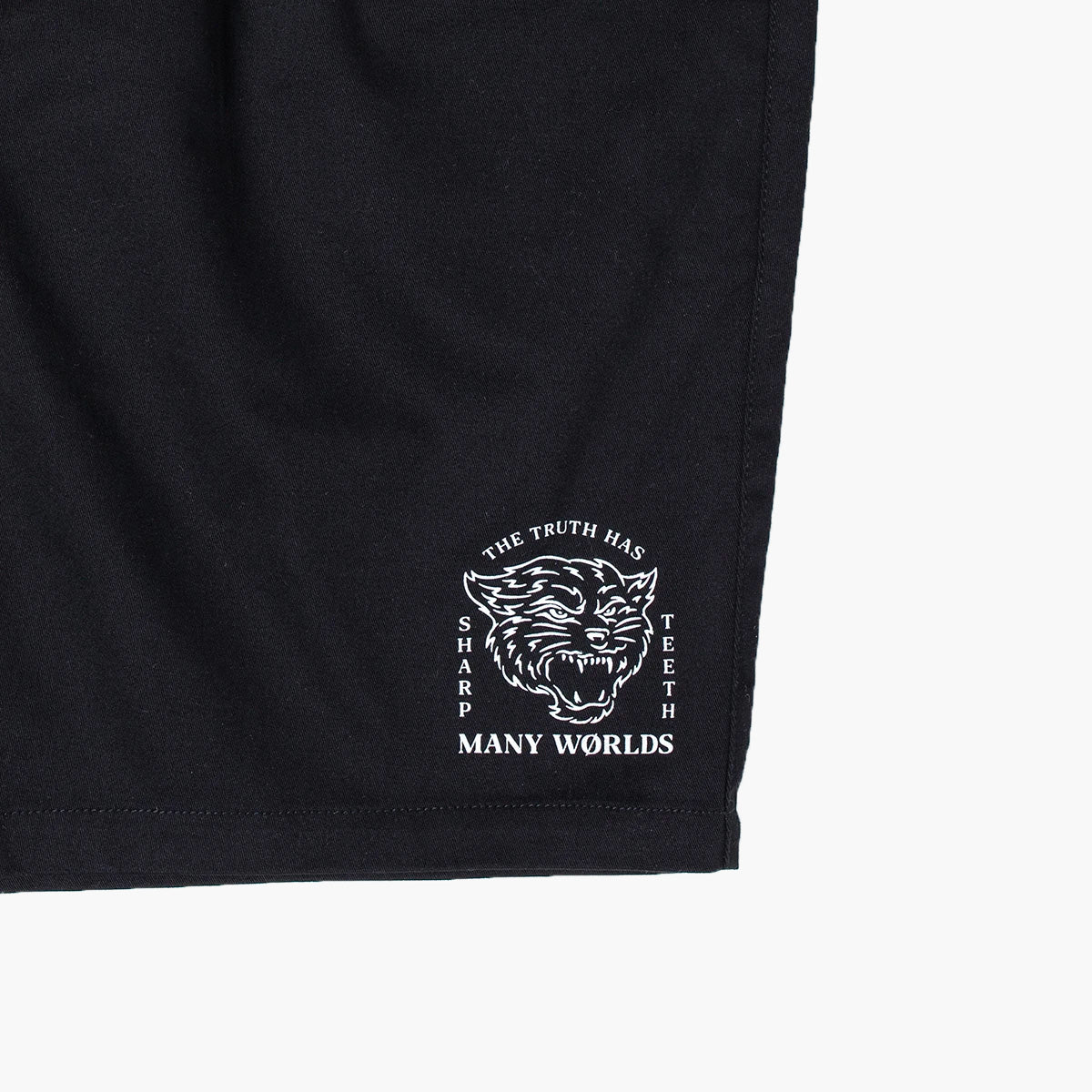 Many Worlds Sharp Teeth Shorts (Black)