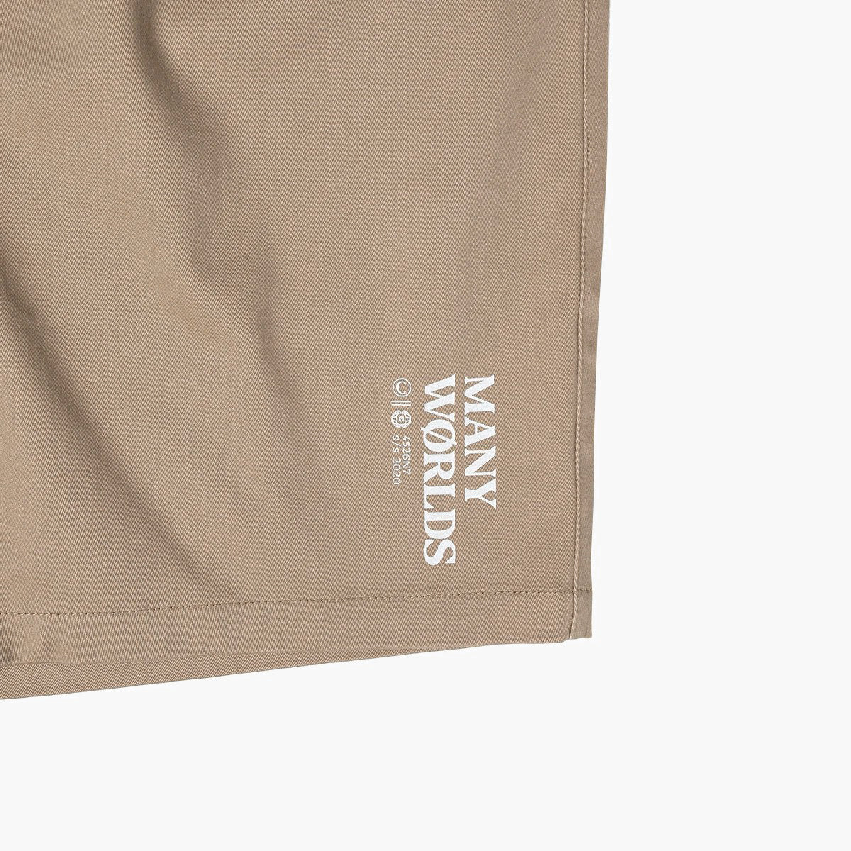 Many Worlds Sideways Shorts (Khaki)