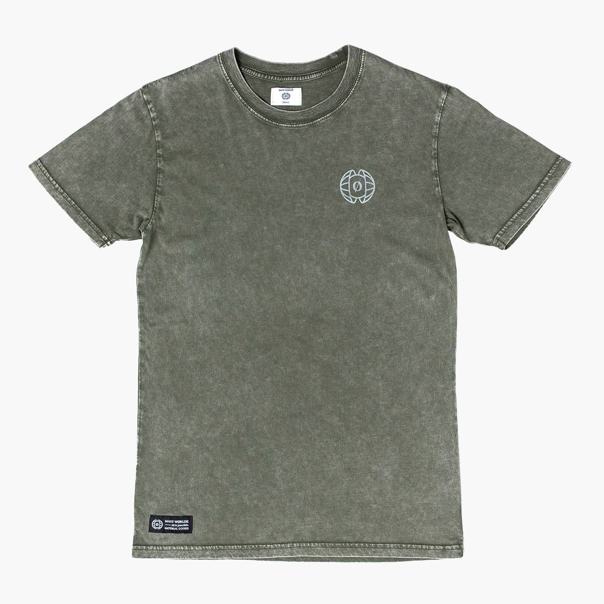 Many Worlds Stone Wash Tee (Moss)