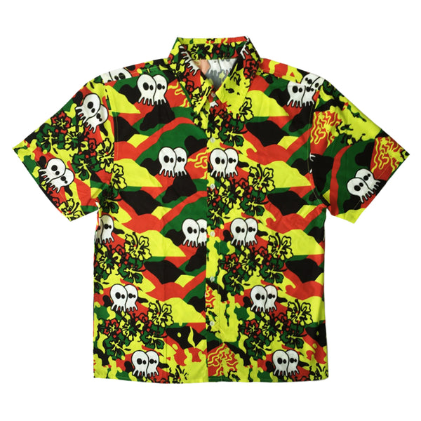 "Pepper ""Skullconut Aloha"" Button Shirt"