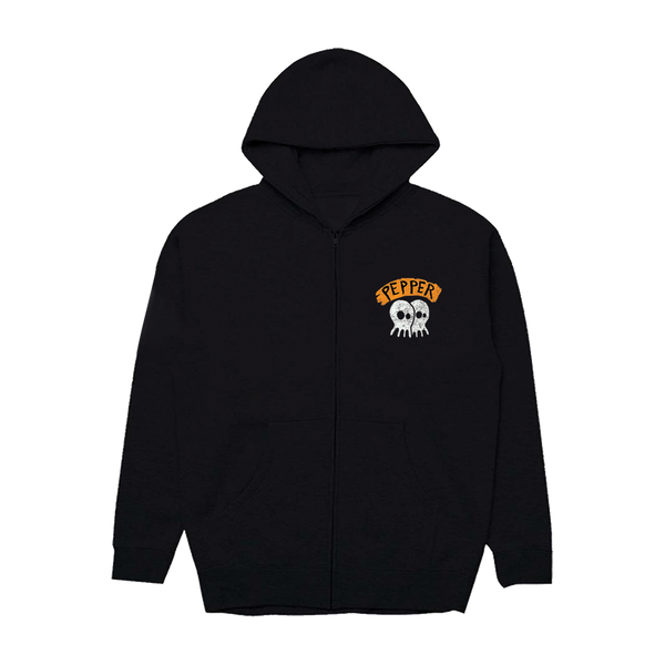 "Pepper ""Aloha Fuckers Beach"" Black Zip Hoodie"